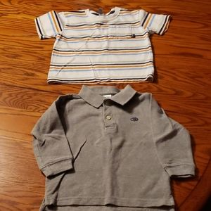Toddler GAP tee and ON long sleeve polo